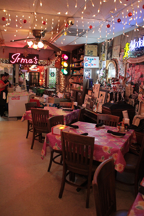 Inside Irma's Original Restaurant