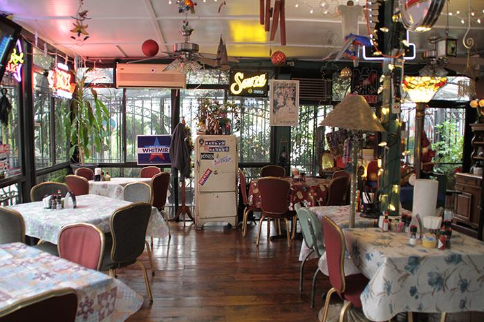 Inside the back of Irma's Original Restaurant